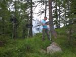 Landschaft- Ausstellung Lötschental Schilder aufstellen